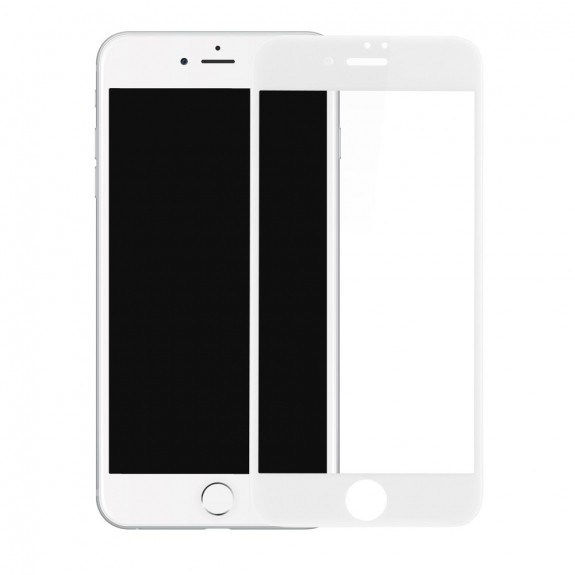 4D tvrzené sklo (Tempered Glass) na Apple iPhone 8 / 7 - Anti-blue-ray - bílé